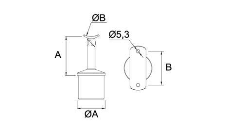 Ficha tecnica soporte pasamanos redondo ajustable inox para barandillas