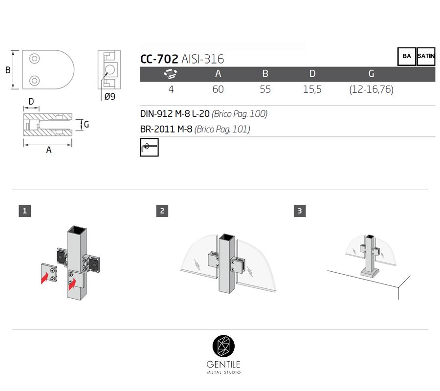 pinzas-para-cristales-esquema-de-montaje-y-medidas-cc-702-comenza - gentile