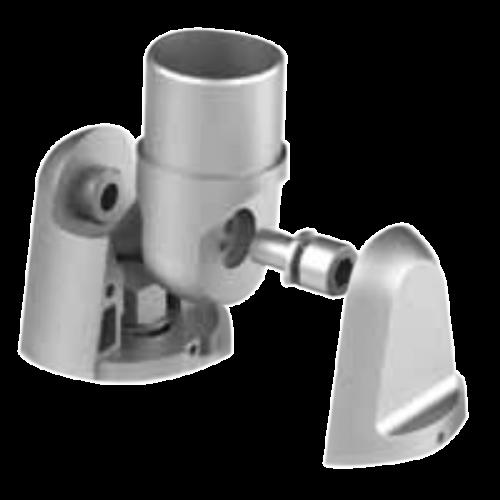 Detalle 1 de soporte de fijación regulable a pared barandilla inox