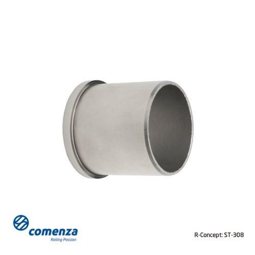 Tapa plana para tubo redondo de acero inoxidable
