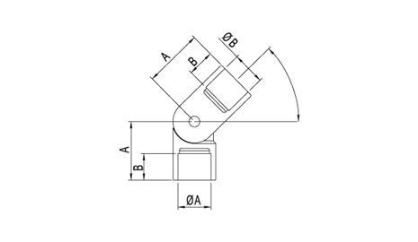Conector regulable en acero inoxidable para varilla o tubo SA-486