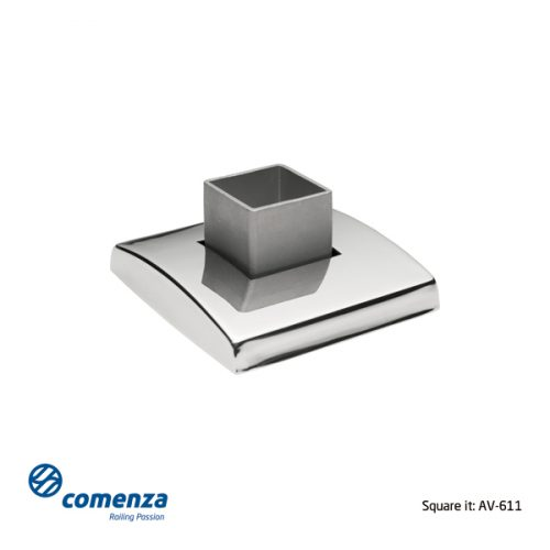 Base suelo inox para barandillas kit de 2 piezas