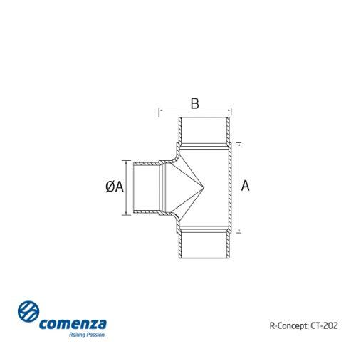 Conector para poste barandillas inox CT-205
