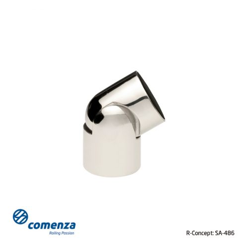 Conector regulable en acero inoxidable para varilla o tubo
