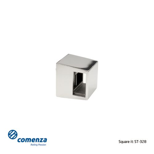 Soporte transversal inox para tubo rectangular 20x10