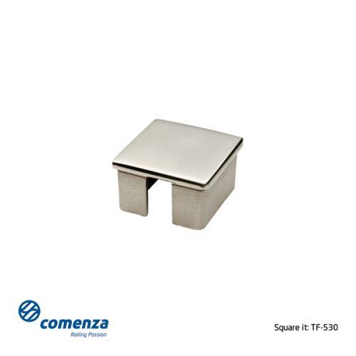 Tapón de acero inoxidable para tubo cuadrado