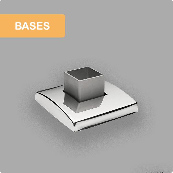 Bases para barandillas de acero inoxidable