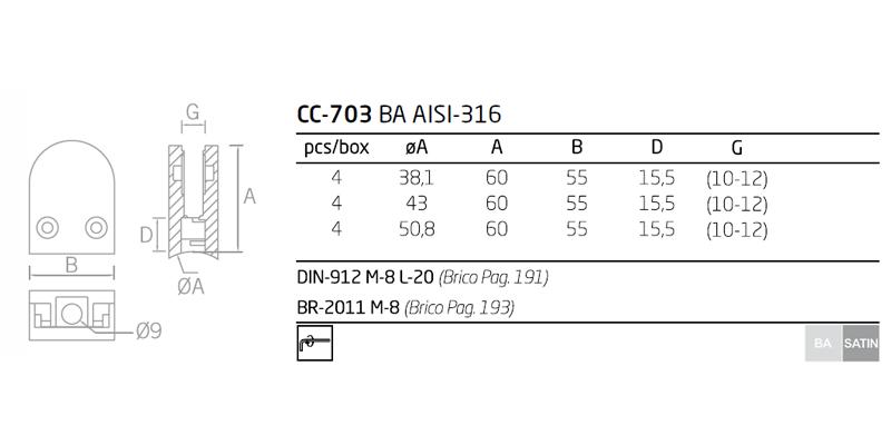 ficha tecnica pinzas cc-703