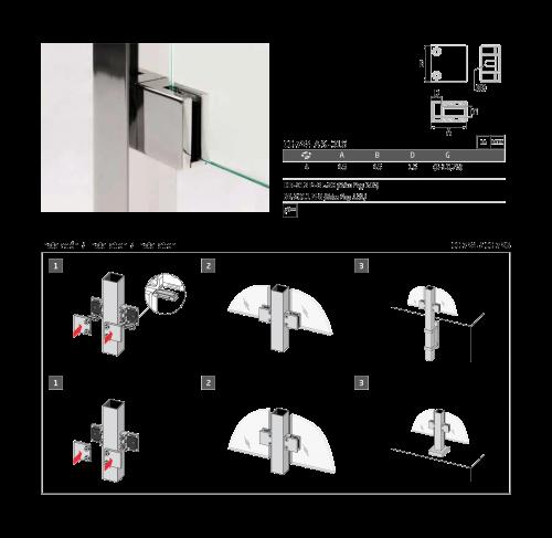 Instrucciones montaje pinza para vidrio cc-724