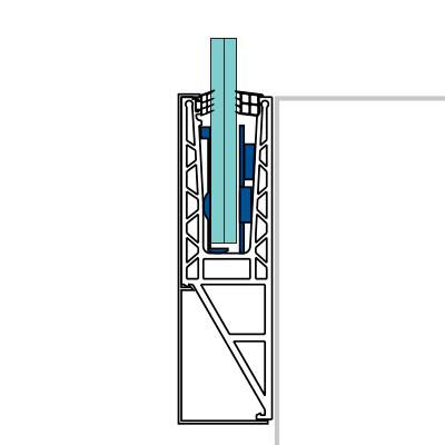 perfil lateral de aluminio para barandillas de cristal