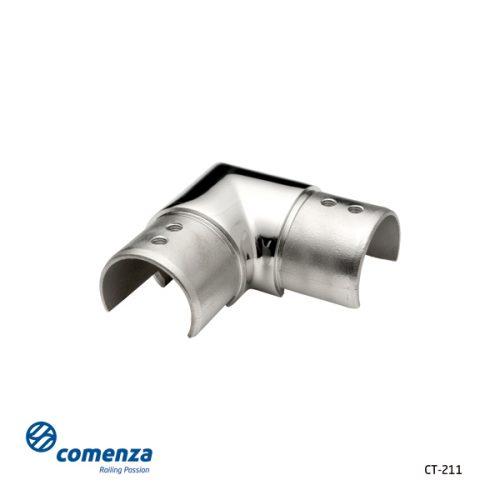 Conector 90 grados pasamanos inoxidable led o vidrio CT-211 - Comenza