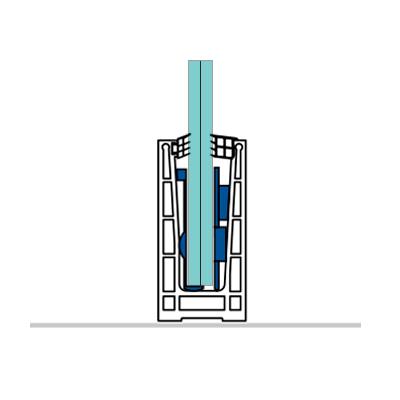perfiles aluminiio para suelo barandillas vidrio
