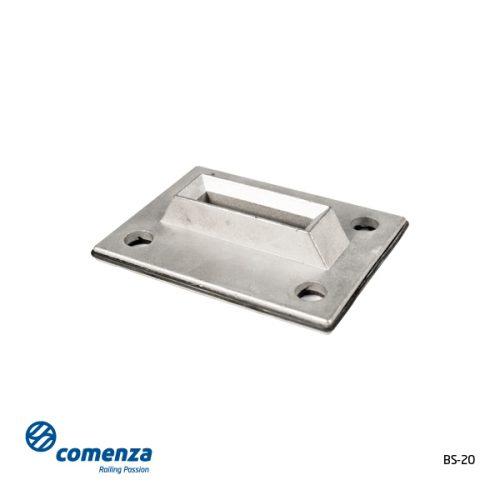 Base para poste rectangular barandillas minimal